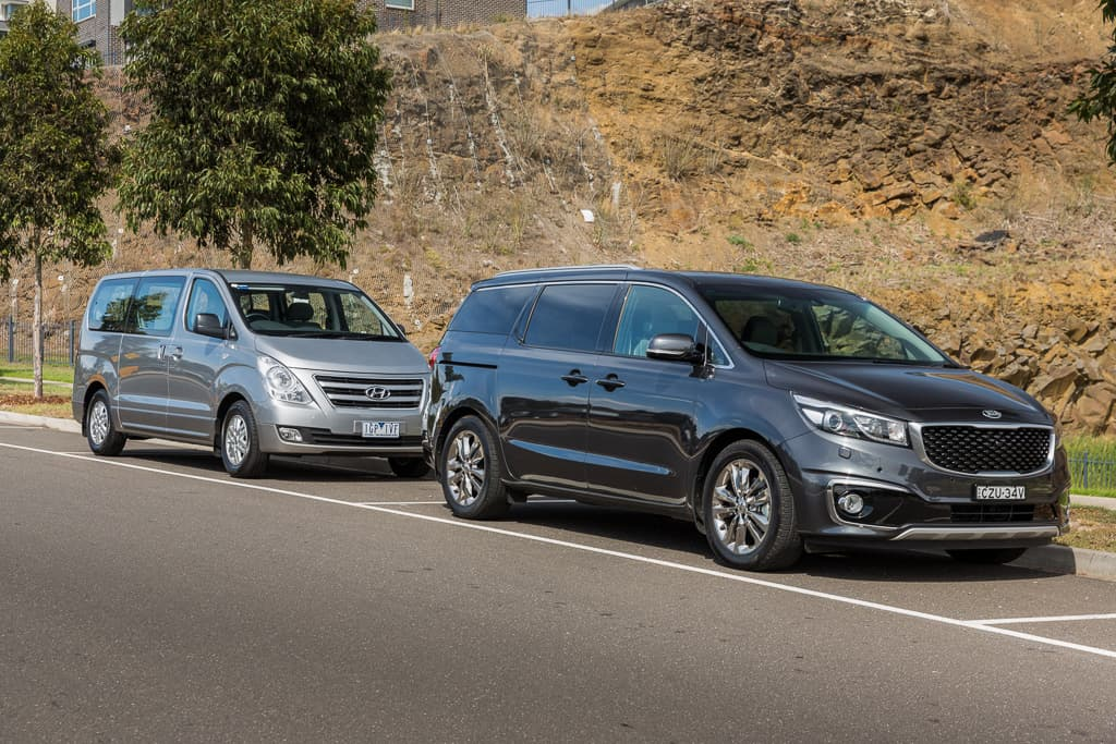 Hyundai Imax V Kia Carnival 2016 Comparison Motoring Com Au