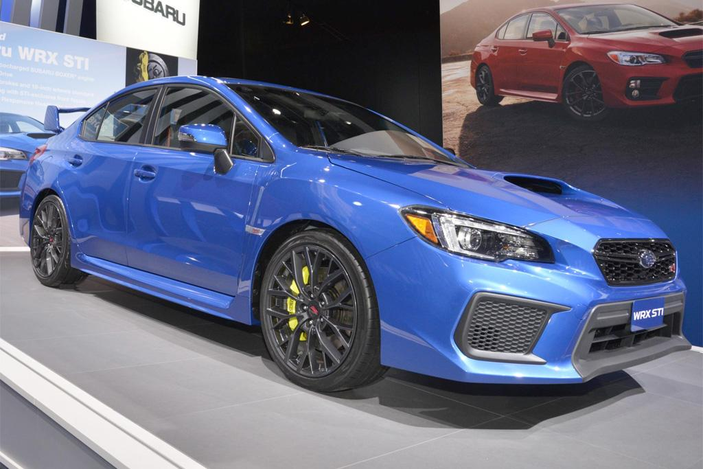detroit motor show 2018 subaru wrx sti premieres. Black Bedroom Furniture Sets. Home Design Ideas