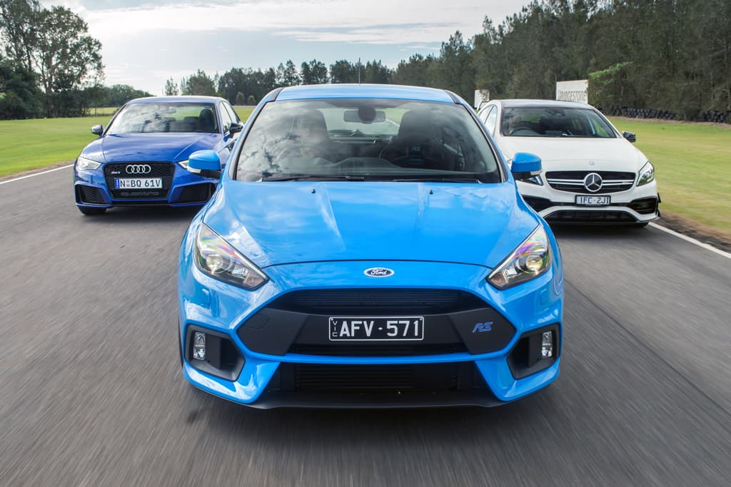Ford Focus Rs V Mercedes Amg A 45 V Audi Rs 3 2016