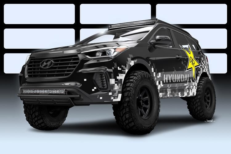 Hyundai & Rockstar Prep Nitrous-Fueled Santa Fe For SEMA
