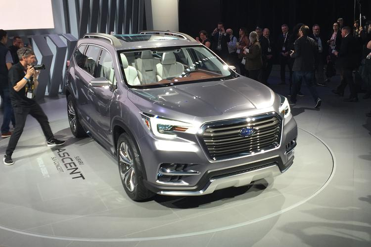 Model NEW YORK MOTOR SHOW Subaru Ascent SUV Concept  Motoring