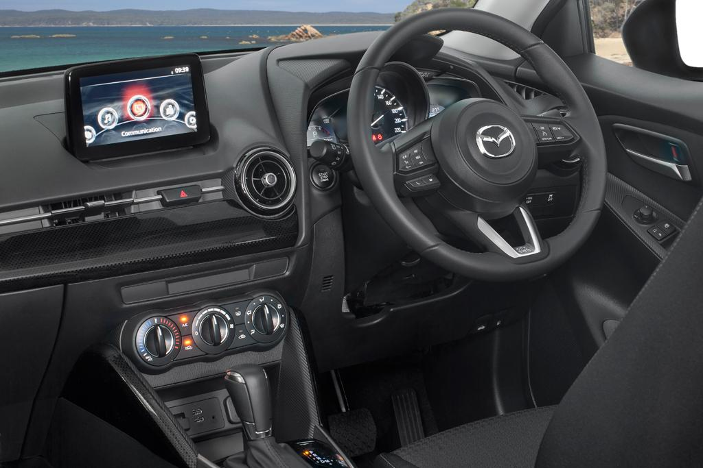 Inside Reflecting Its Packaging The Mazda2 Is Not Exactly Albert Hall Behind Wheel I Found Driving Position To Be Quite Right For