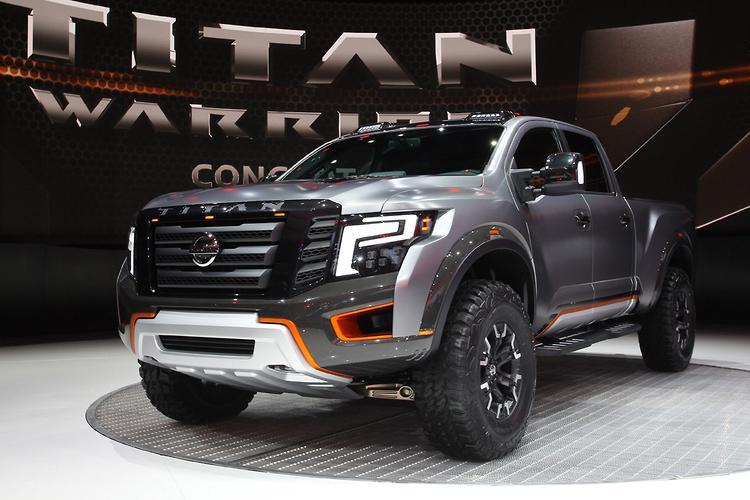 detroit motor show nissan debuts titan warrior concept. Black Bedroom Furniture Sets. Home Design Ideas