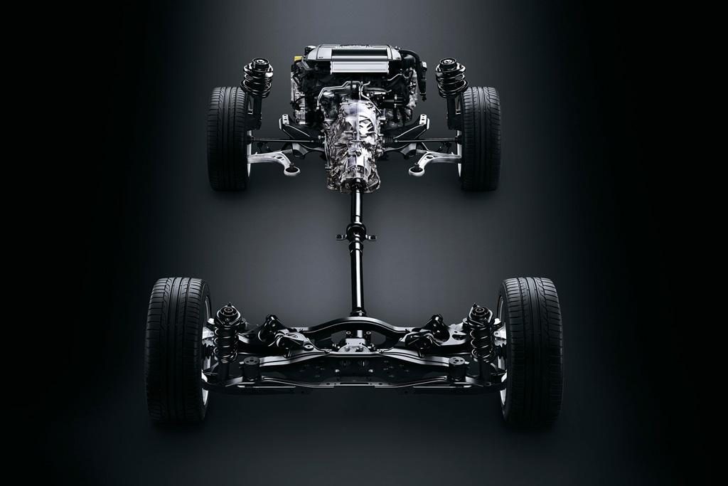 Subaru All Wheel Drive System With Front Driveshaft Integrated In Transmission Symmetrical