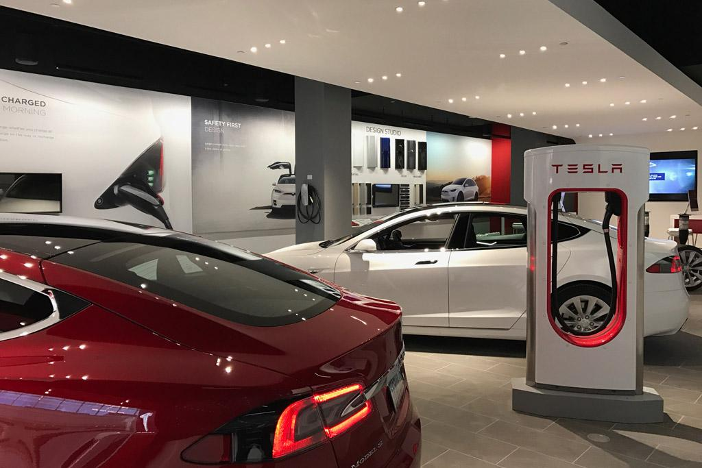 Tesla Opens First Retail In