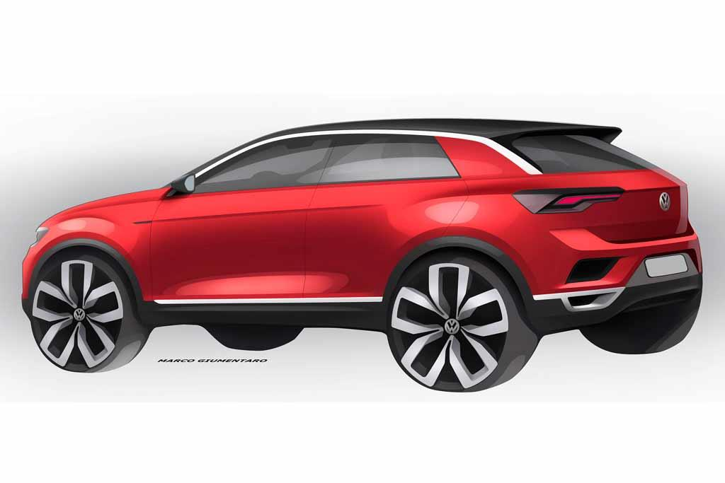 video volkswagen teases its t roc baby suv. Black Bedroom Furniture Sets. Home Design Ideas