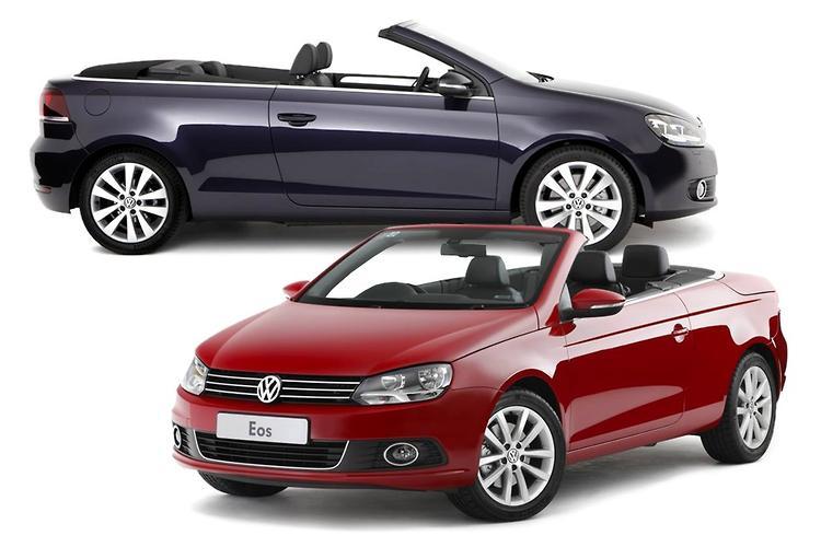 volkswagen eos vs golf cabrio comparison. Black Bedroom Furniture Sets. Home Design Ideas