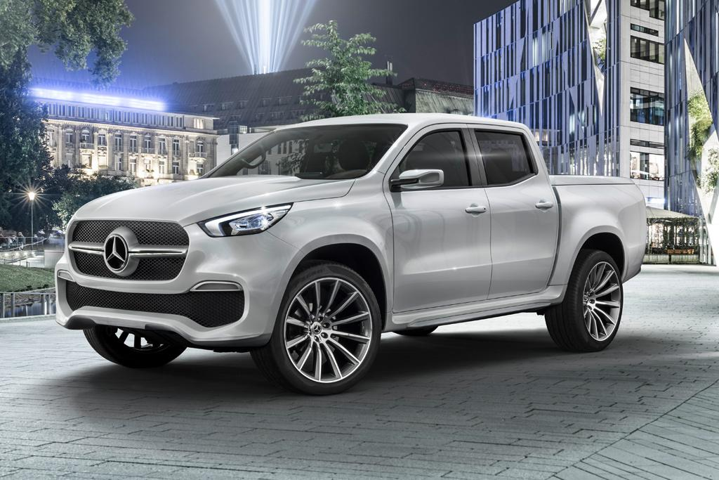 368b85ee94 Expect the production X-class to look a lot like this when it makes its  world debut in Europe next year — most likely at the 2017 Frankfurt motor  show in ...