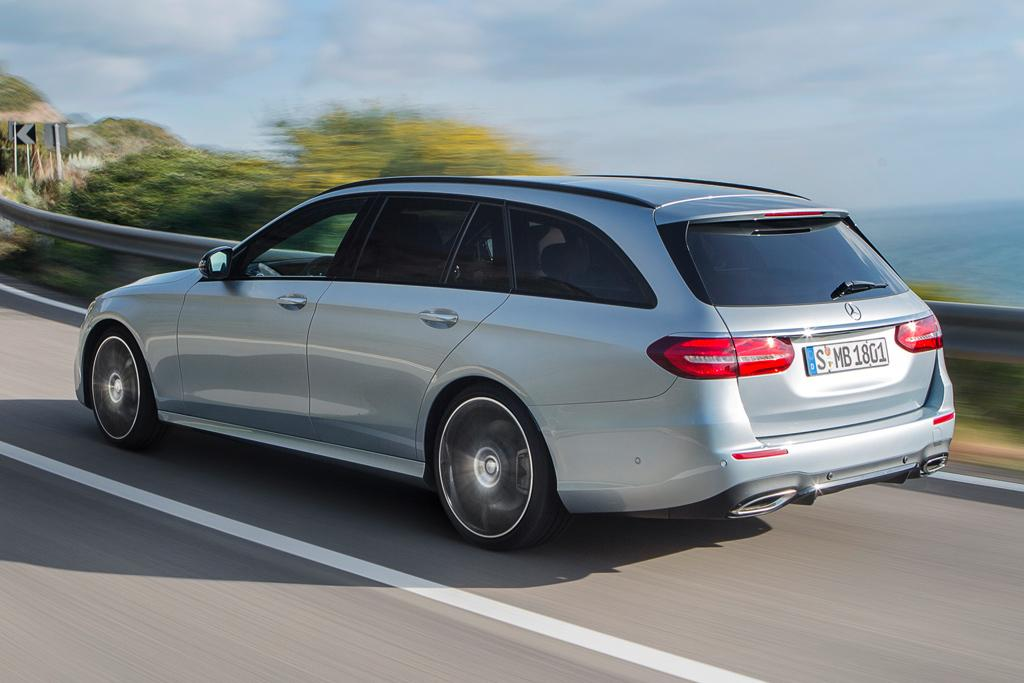 Mercedes benz e class estate outed for Mercedes benz corporate number