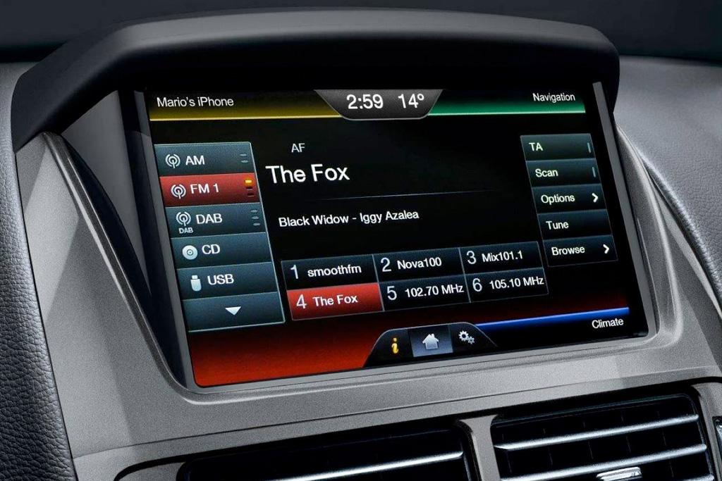 infotainment review ford sync 2. Black Bedroom Furniture Sets. Home Design Ideas
