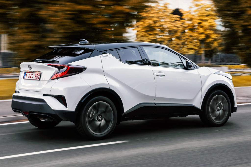 The top-spec C-HR Koba adds bigger 18-inch alloy wheels with Michelin tyres (225/50), leather accented seats, plus a smart entry and engine start system.